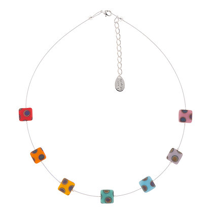 Dotty Squares Necklace (more colours available)