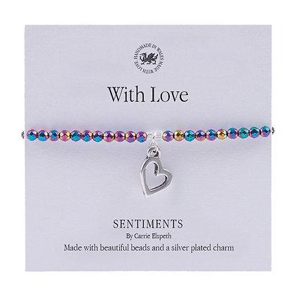 With Love Sentiment Bracelet