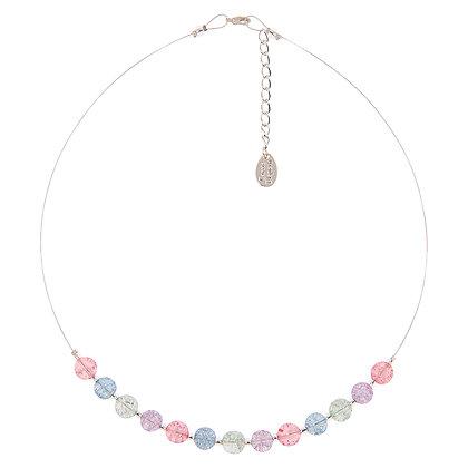 Pastel Crackle Globes Links Necklace
