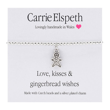 Love, Kisses & Gingerbread Wishes Sentiment Bracelet