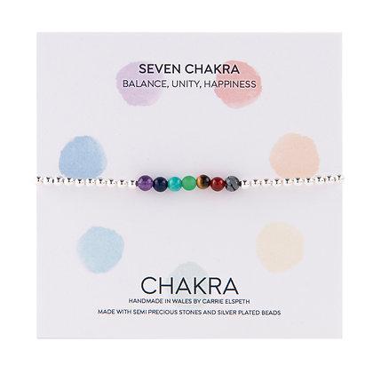 Seven Chakra Beaded Bracelet