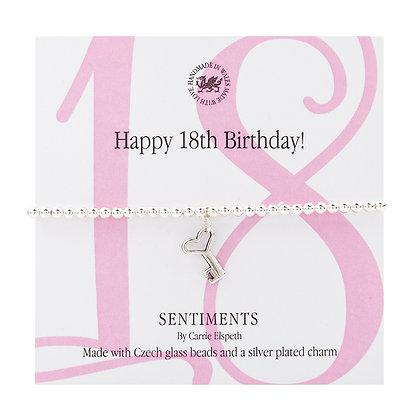 Happy 18th Birthday! Sentiment Bracelet