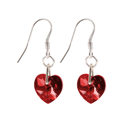 Swarovski Crystal Heart Earrings (more colours available)