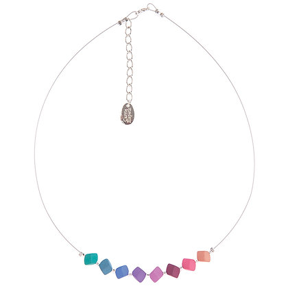 Pastel Cubic Links Necklace