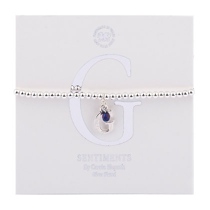 Letter 'G' Sentiment Bracelet
