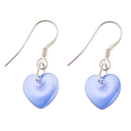 Glass Heart Earrings (more colours available)