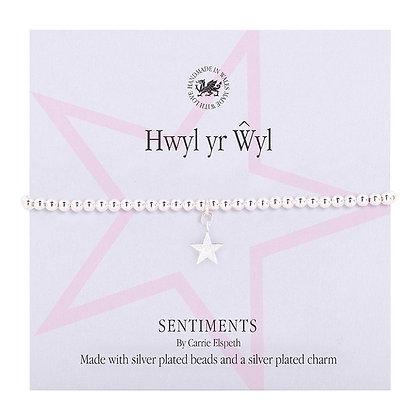 Hwyl yr Ŵyl (Festive Fun) Welsh Sentiment Bracelet