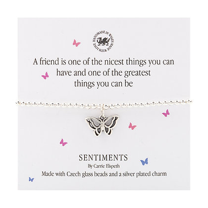 A friend is one of the nicest things you can have... Sentiment Bracelet