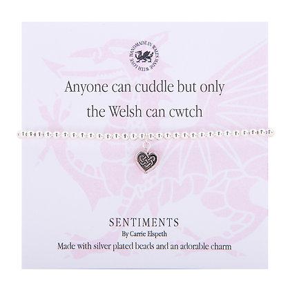 Cwtch Sentiment Bracelet