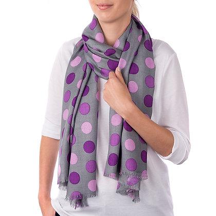 Purple Snowdon Scarf (Slightly Imperfect)
