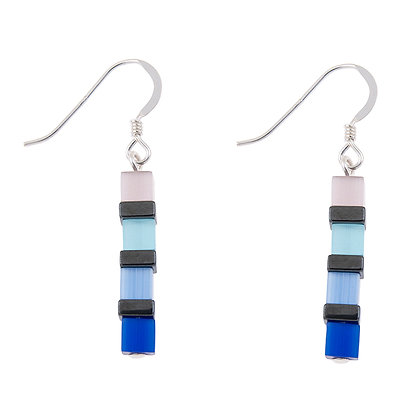 Cats Eye Cubes Earrings (More Colours Available)
