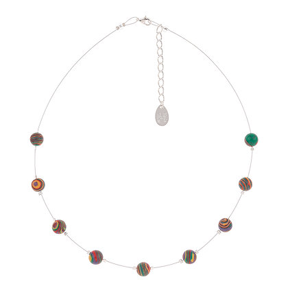Zebra Marbled Necklace (more colours available)