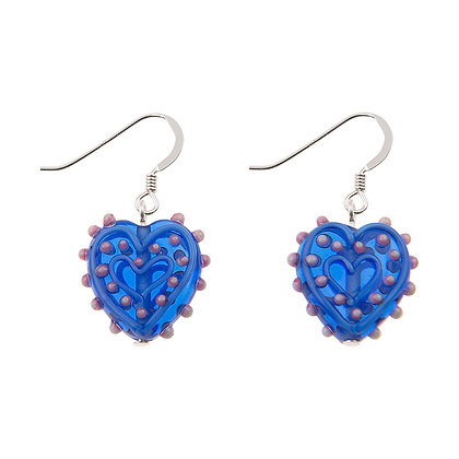 Spotty Heart Earrings (More Colours Available)