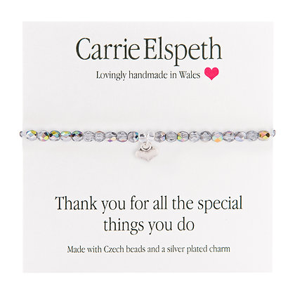 Thank you for all the special things you do Sentiment Bracelet