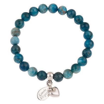 Apatite Gemstone Bracelet (Star or Heart Charm)