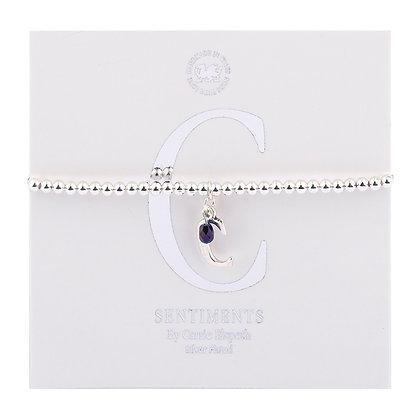 Letter 'C' Sentiment Bracelet