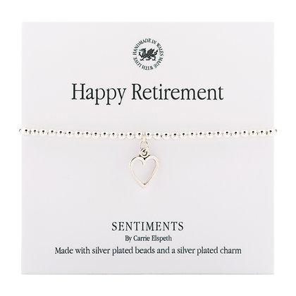 Happy Retirement Sentiment Bracelet