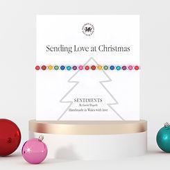 Sqaure - Sentiment Bracelets - Christmas