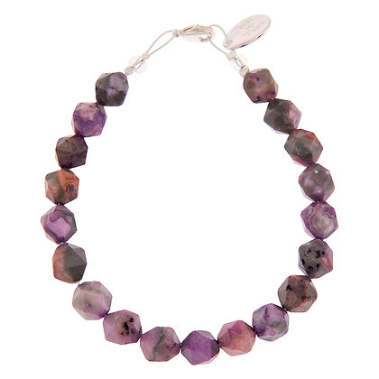 Faceted Agate Bracelet (more colours available)
