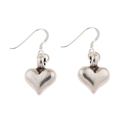Silver Heart String Earrings