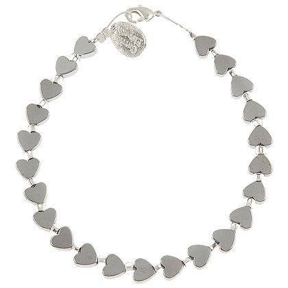 Mini Haematite Heart Bracelet