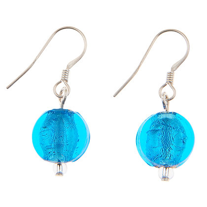 Silver Lined Coin Earrings (more colours available)