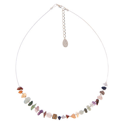 Semi-Precious Chip Links Necklace