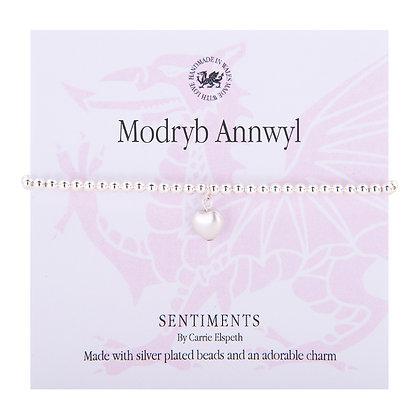 Dear Auntie/Modryb Annwyl Sentiment Bracelet