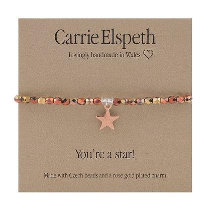 You're a star! Sentiment Bracelet