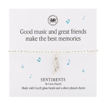 Good music and great friends make the best memories Sentiment Bracelet