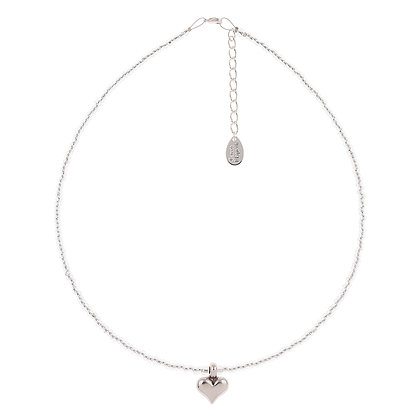 Silver Heart Strings Necklace