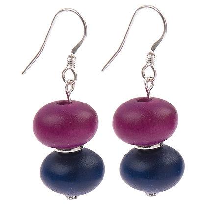 Abacus Purple Earrings
