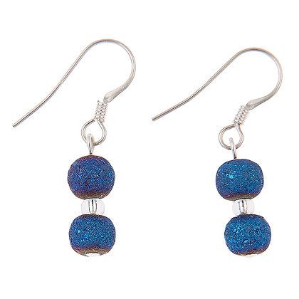 Indigo Lava Earrings
