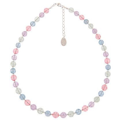 Pastel Crackle Globes Necklace