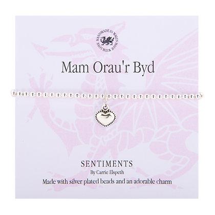 World's Greatest Mum/Mam Orau'r Byd Sentiment Bracelet