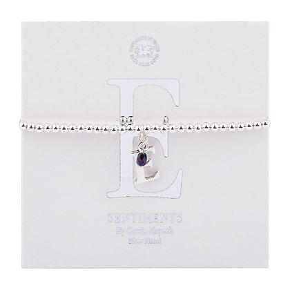 Letter 'E' Sentiment Bracelet