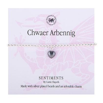 Special Sister/Chwaer Arbennig Sentiment Bracelet