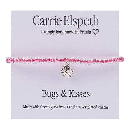 Bugs & Kisses Childrens Sentiment Mini Bracelet