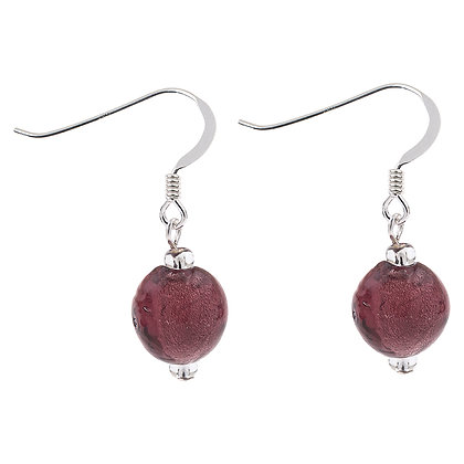 Silver Lined Globes Earrings (More Colours Available)
