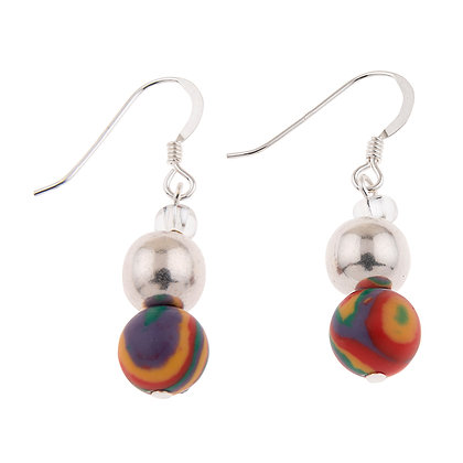 Zebra Marbled Earrings (more colours available)