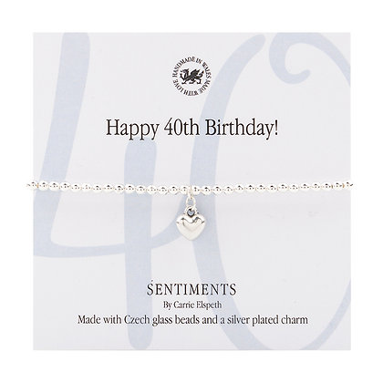 Happy 40th Birthday! Sentiment Bracelet