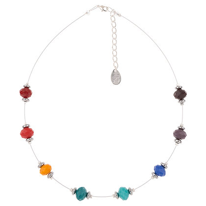 Faceted Crystal Rainbow Necklace