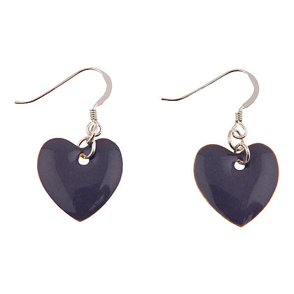 Enamel Heart Earrings (more colours available)