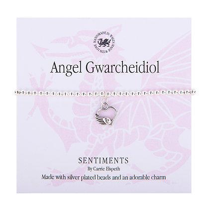 Guardian Angel/Angel Gwarcheidiol Sentiment Bracelet