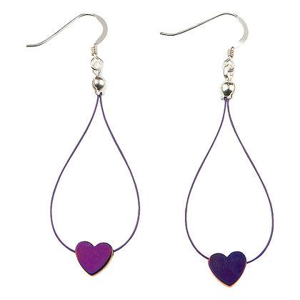 Haematite Hearts Earrings