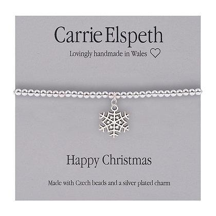 Happy Christmas Sentiment Bracelet