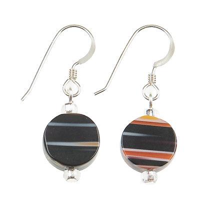 Black Candy Stripes Earrings