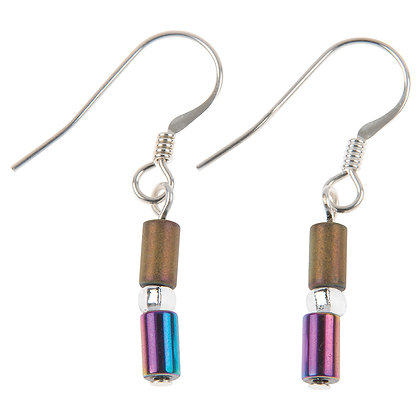 Geo Tubes Earrings (More Colours Available)