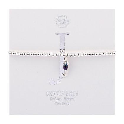 Letter 'J' Sentiment Bracelet