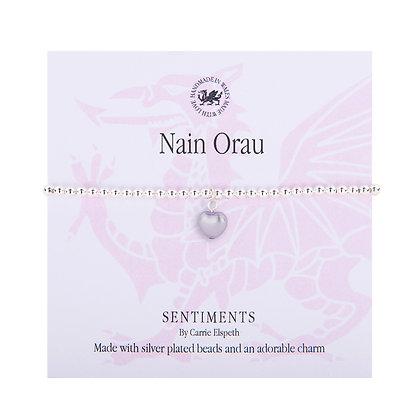 Nain Orau - Best Nan/Grandma Sentiment Bracelet